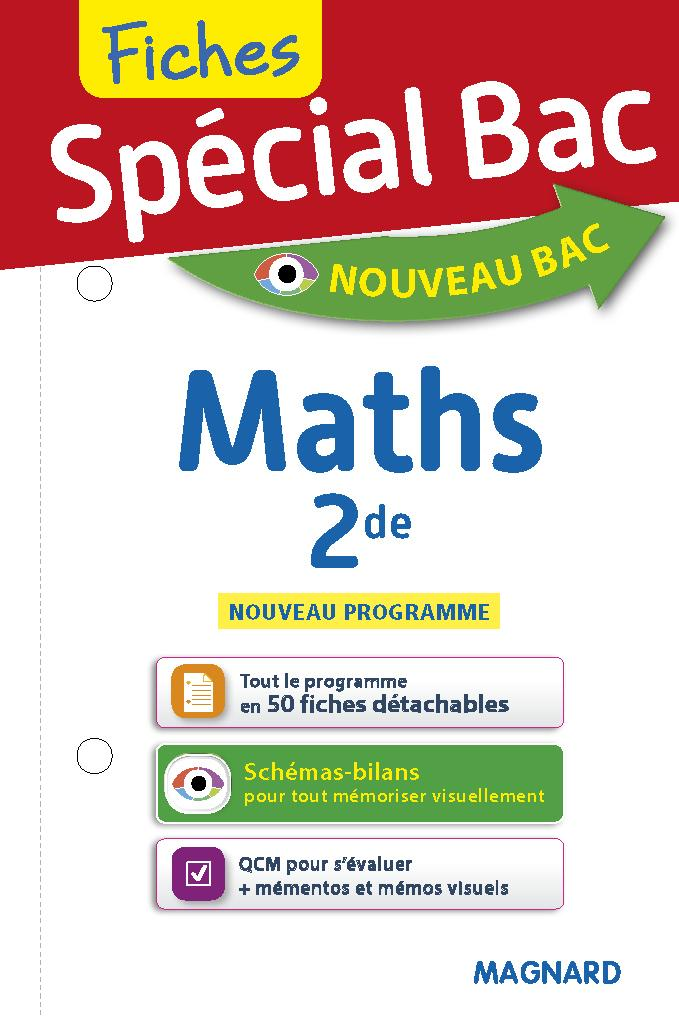 Special Bac Fiches Maths 2de Collectif Magnard Librairie Eyrolles