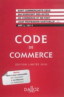 Code de commerce - 2016