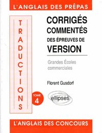 Traductions (version) écoles commerciales Tome 4