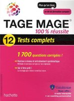 TAGE MAGE - 100% réussite, 12 tests complets