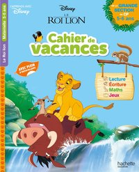 Disney-  le roi lion - cahier de vacances 2020, de la grande section au cp
