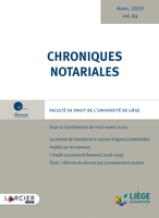 Chroniques notariales - Tome 69
