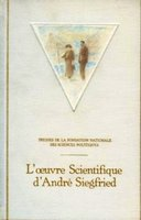 L'œuvre scientifique d'andré siegfried