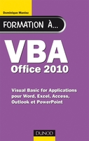 Formation à VBA Office 2010