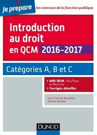 Introduction au droit en QCM 2016-2017