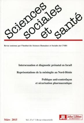 Sciences Sociales et Santé Volume 21 N° 1, Mars - John Libbey