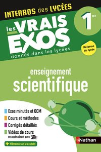 Interros des lycées enseignement scientifique 1re