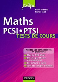 Maths - PCSI-PTSI - Tests de cours