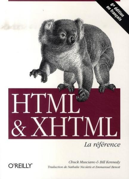 couverture du livre HTML & XHTML - La référence