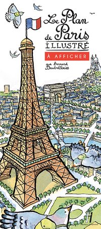 Le plan de Paris illustré à afficher