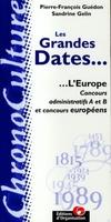 Pierre-Francois Guédon - Grandes dates l'europe