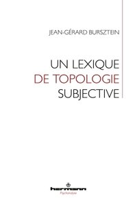 Un lexique de topologie subjective