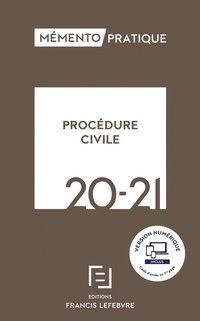 Memento procedure civile 2020-2021