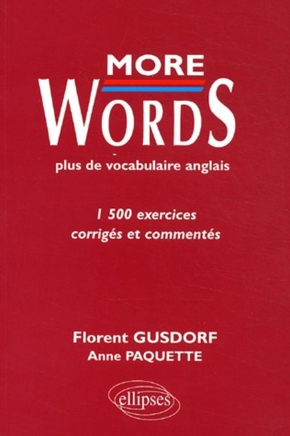 More words - Plus de vocabulaire anglais