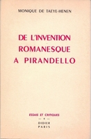 De l' invention romanesque à pirandello