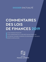 Commentaires lois de finances