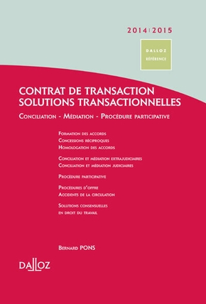 Contrat de transaction-solutions transactionnelles - 2014-2015