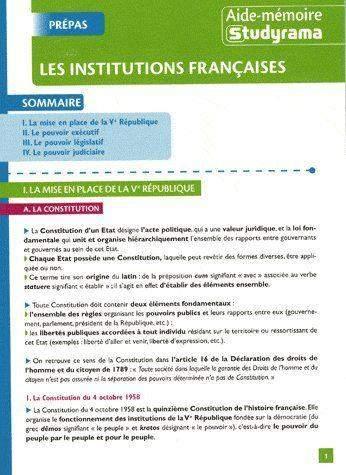 b694e8b9d72 Aide-mémoire - Les institutions françaises - M. Champetier - Librairie  Eyrolles