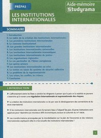 Aide-mémoire - Les institutions internationales