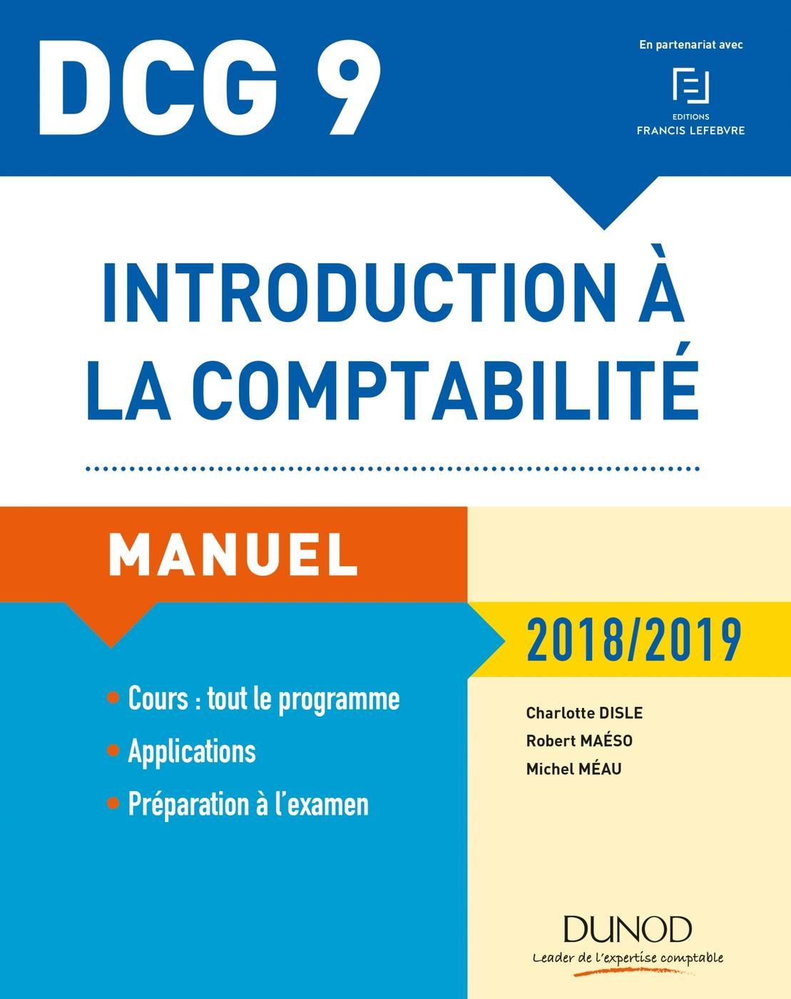 Introduction A La Comptabilite Dcg 9 2018 2019 C Disle Librairie Eyrolles