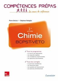 Chimie - BCPST VETO, 1re annèe