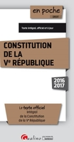 Constitution de la Ve République - 2016-2017