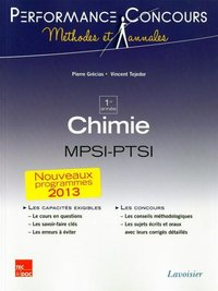 Chimie MPSI-PTSI - 1re année