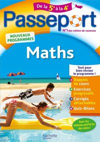 Passeport : maths - De la 5e à la 4e