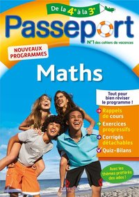 Passeport : maths - De la 4e à la 3e