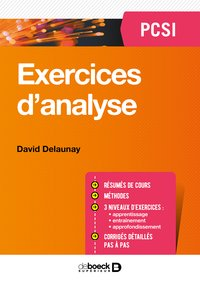 Exercices d'analyse pcsi