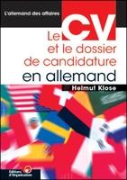 Helmut Klose - Le CV et le dossier de candidature en allemand