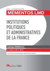 Institutions politiques et administratives de la france 9eme edition