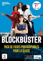 Blockbuster ; anglais ; 1re ; pack de fiches
