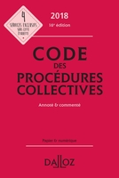 Code des procédures collectives - 2018
