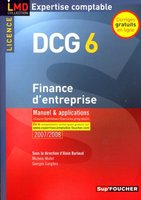 Finance d'entreprise - DCG 6 - Manuel et applications