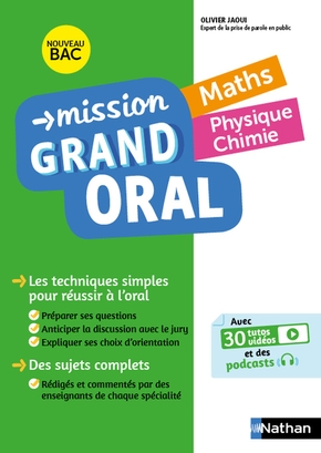 Mission grand oral - maths - physique chimie