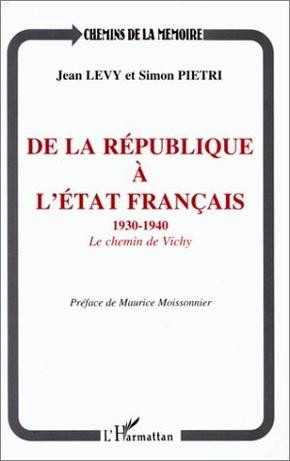 De la république à l'etat français 1930-1940