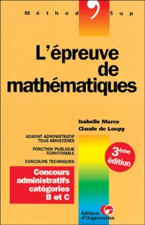 I.Marco, C.Loupy- Epreuve de mathematiques