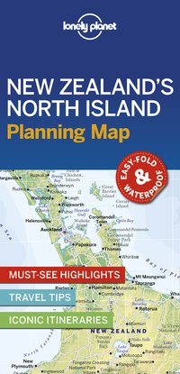 New zealand's north island planning map 1ed -anglais-