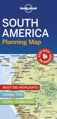 South america planning map 1ed -anglais-