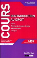 Cours d'introduction au droit