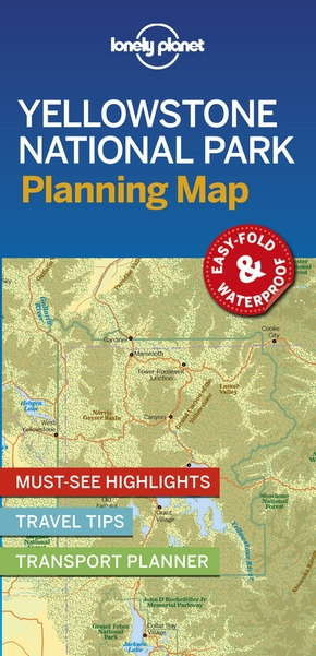 Yellowstone national park planning map (édition 2019)