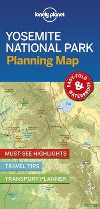 Yosemite national park planning map 1ed -anglais-