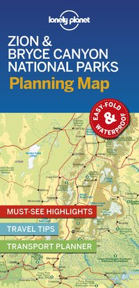 Zion & bryce canyon national parks planning map 1ed -anglais-