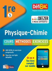 DEFIBAC ; physique ; chimie ; 1re S (édition 2018)