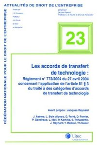 Les accords de transfert de technologie