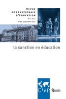 Revue internationale d'éducation de sèvres n.81 ; septembre 2019 ; la sanction en éducation