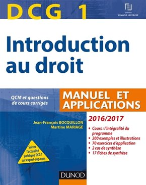 Introduction au droit, DCG 1 - 2016-2017
