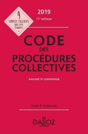 Code des procédures collectives