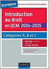 Introduction au droit en QCM  - 2014/2015